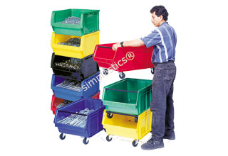 Stacking Bins for Warehouses
