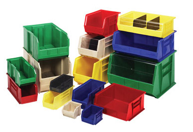 Stacking Plastic Storage Bins