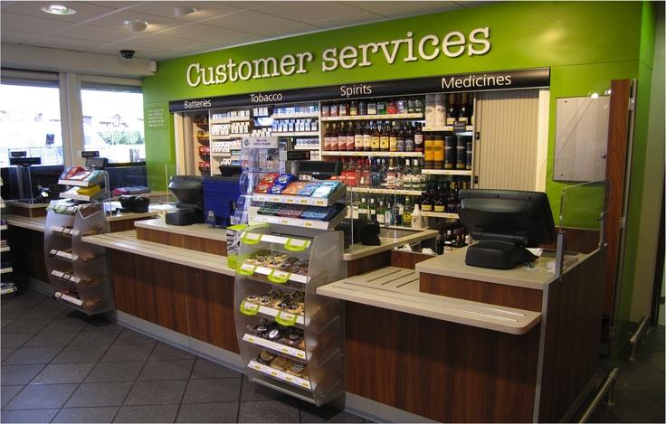 Bins at Checkout Counter