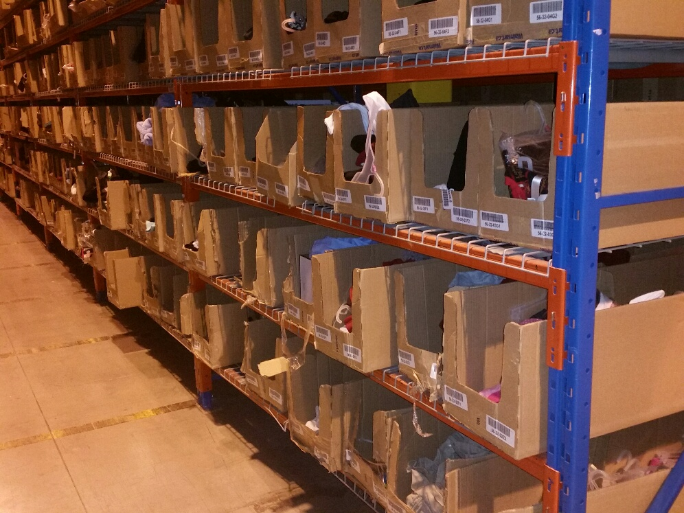 Cardboard Boxes in Warehouse & Monster Bins Blog - Inventory Storage Solutions from Monster Bins