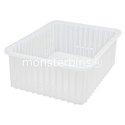 Clear Grid Containers · Clear Hopper Bins. Clear Plastic Storage Bins