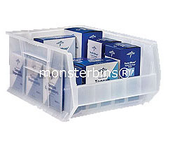 Wonderful Clear Stacking Storage Bins