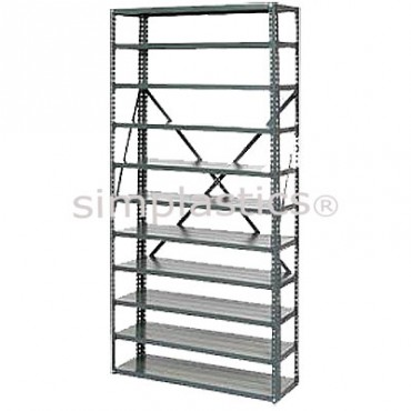 22 Gauge Steel Shelving - 12x36 - 8 Shelves