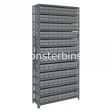 Steel Shelving Unit - 13 Shelves - 108 Euro Drawers (QED501)