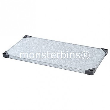 Galvanized Steel - Solid Shelf- 24x60