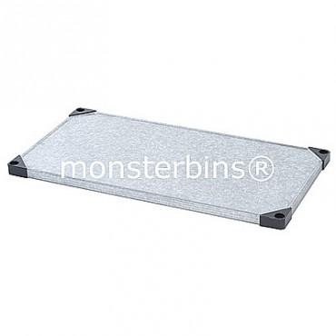 Galvanized Steel - Solid Shelf- 18x48