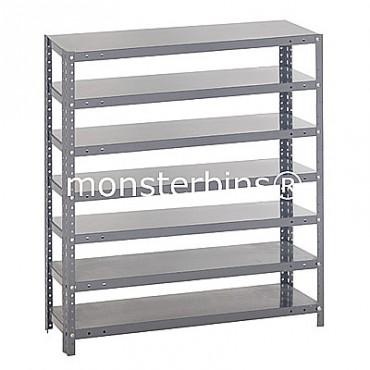 Steel Shelving Unit -7 Shelves - No Bins