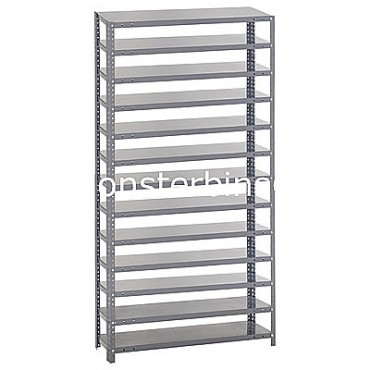 Steel Shelving Unit -13 Shelves - No Bins