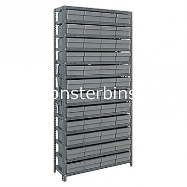 Steel Shelving Unit - 13 Shelves - 48 Euro Drawers (QED606)