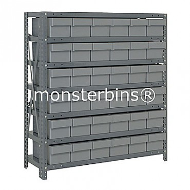 Steel Shelving Unit - 13 Shelves - 36 Euro Drawers (QED603)