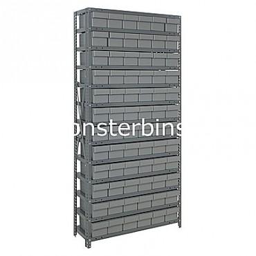 Steel Shelving Unit - 13 Shelves - 72 Euro Drawers (QED603)