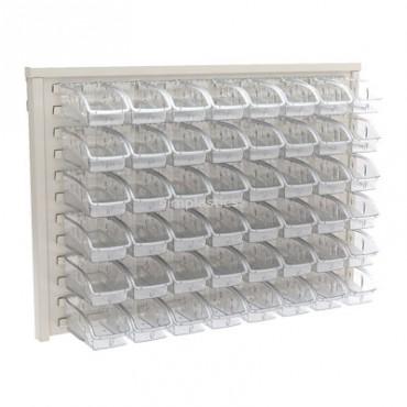 Akro-Mils® InSight Beige Panel Unit with 32 305A3 Bins - 30636BEIGEA3