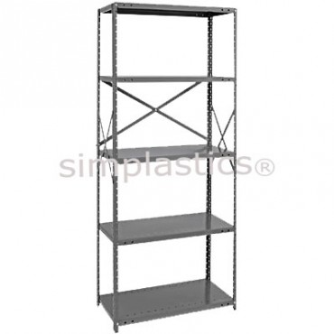 22 Gauge Steel Shelving - 18x42 - 5 Shelves