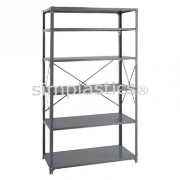 22 Gauge Steel Shelving - 18x42 - 6 Shelves