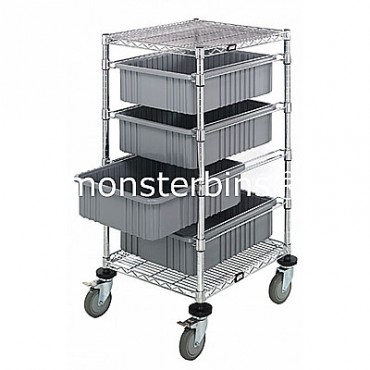 Bin Cart - 21x24x34 with 4 DG93060