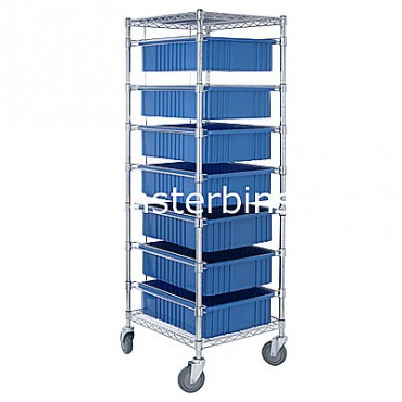 Bin Cart - 21x24x69 with 7 DG93060