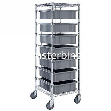 Bin Cart - 21x24x69 with 7 DG93060