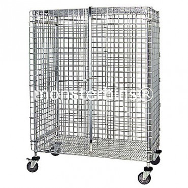 Mobile Wire Security Unit - 24x60x69 (with casters)