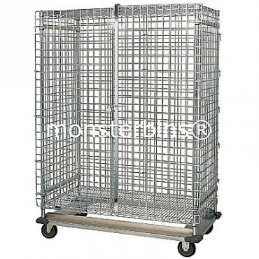 Mobile Wire Security Unit with Dolly Base - 24x48x70 (with casters)