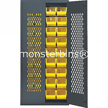 SMC-240250 Cabinet with Yellow MB240 & MB250 Plastic Bins