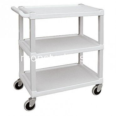 3 Shelf Plastic Utility Cart - 33x17x34