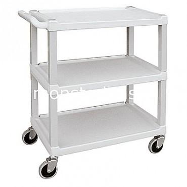 3 Shelf Plastic Utility Cart - 33x17x34