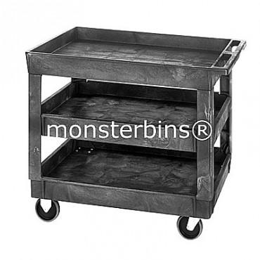 Polymer Utility Cart - 40x26x33 - 3 Shelves