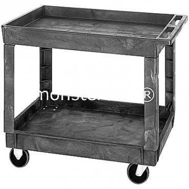 Polymer Utility Cart - 40x26x33 - 2 Shelves