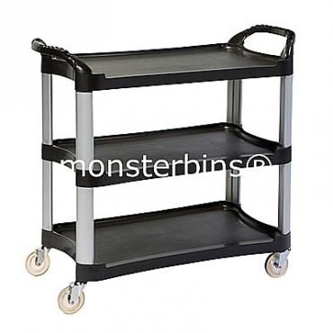 3 Shelf Plastic Utility Cart - 42x20x38