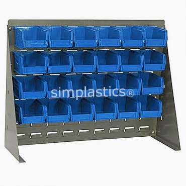 Bench Rack with 24 MB210 Bins - Blue