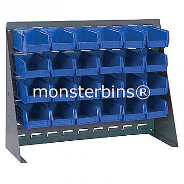 Bench Rack with 24 QUS220 Bins - Blue