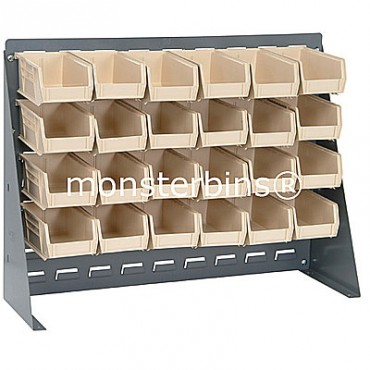 Bench Rack with 24 MB220 Bins - Ivory