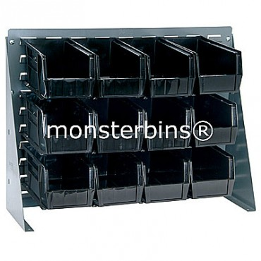 Bench Rack with 12 QUS230 Bins - Black