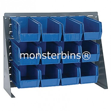Bench Rack with 12 QUS230 Bins - Blue