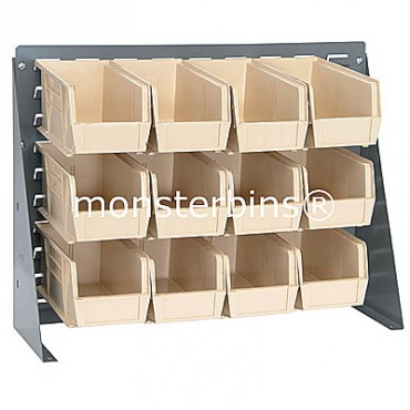 Bench Rack with 12 QUS230 Bins - Ivory