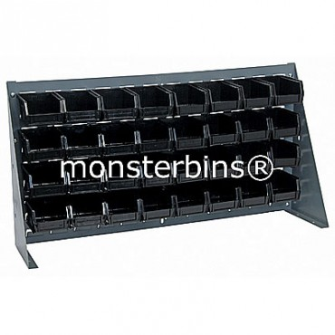 Bench Rack with 32 QUS210 Bins - Black