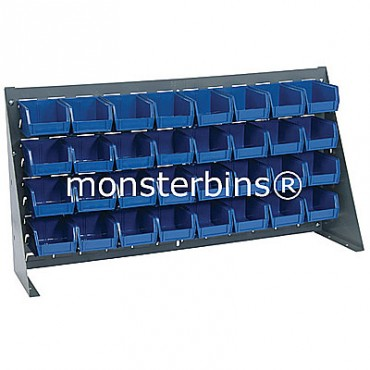Bench Rack with 32 MB210 Bins - Blue