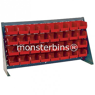 Bench Rack with 32 QUS210 Bins - Red