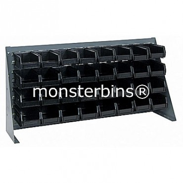 Bench Rack with 32 QUS220 Bins - Black