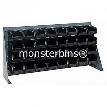 Bench Rack with 32 MB220 Bins - Black