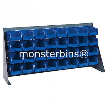Bench Rack with 32 QUS220 Bins - Blue
