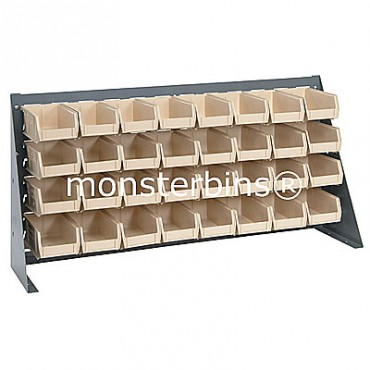 Bench Rack with 32 MB220 Bins - Ivory