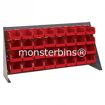 Bench Rack with 32 MB220 Bins - Red