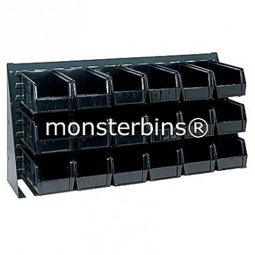Bench Rack with 18 QUS230 Bins - Black
