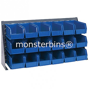 Bench Rack with 18 QUS230 Bins - Blue