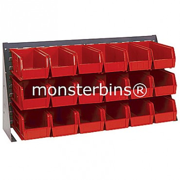 Bench Rack with 18 MB230 Bins - Red