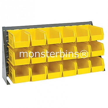 Bench Rack with 18 MB230 Bins - Yellow