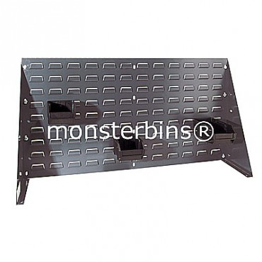 Louvered Bench Rack 36x19 Gray