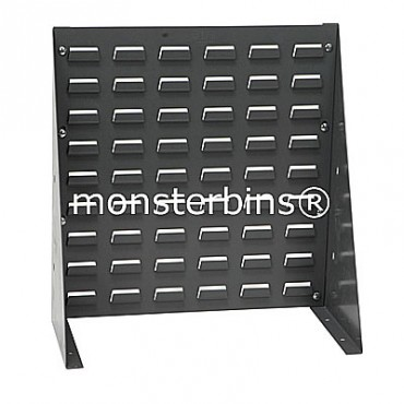 Louvered Bench Rack 18x19 Gray