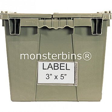 3x5 Label Holder for Attached Lid Containers (Pack of 24)